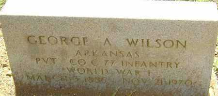 WILSON (VETERAN WWI), GEORGE ALEXANDER - Sharp County, Arkansas | GEORGE ALEXANDER WILSON (VETERAN WWI) - Arkansas Gravestone Photos