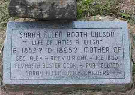 BOOTH WILSON, SARAH ELLEN - Sharp County, Arkansas | SARAH ELLEN BOOTH WILSON - Arkansas Gravestone Photos