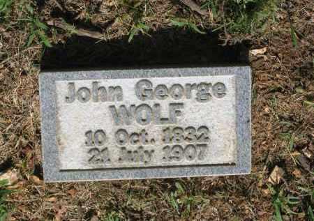 WOLF, JOHN GEORGE - Sharp County, Arkansas   JOHN GEORGE WOLF - Arkansas Gravestone Photos