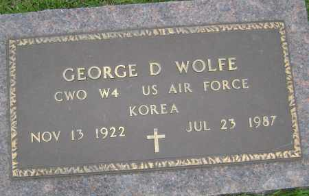 WOLFE (VETERAN KOR), GEORGE D - Sharp County, Arkansas   GEORGE D WOLFE (VETERAN KOR) - Arkansas Gravestone Photos