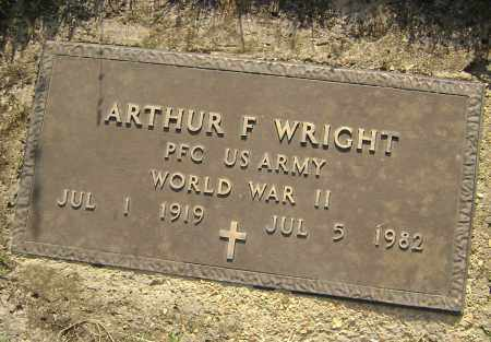 WRIGHT (VETERAN WWII), ARTHUR F. - Sharp County, Arkansas | ARTHUR F. WRIGHT (VETERAN WWII) - Arkansas Gravestone Photos