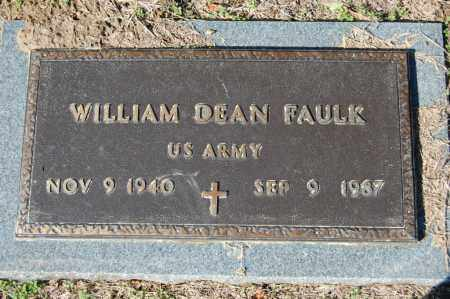 FAULK  (VETERAN), WILLIAM DEAN - St. Francis County, Arkansas | WILLIAM DEAN FAULK  (VETERAN) - Arkansas Gravestone Photos