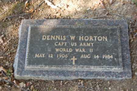 HORTON  (VETERAN WWII), DENNIS W - St. Francis County, Arkansas | DENNIS W HORTON  (VETERAN WWII) - Arkansas Gravestone Photos