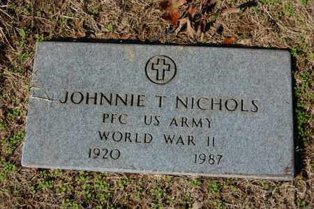 NICHOLS  (VETERAN WWII), JOHNNIE T - St. Francis County, Arkansas | JOHNNIE T NICHOLS  (VETERAN WWII) - Arkansas Gravestone Photos