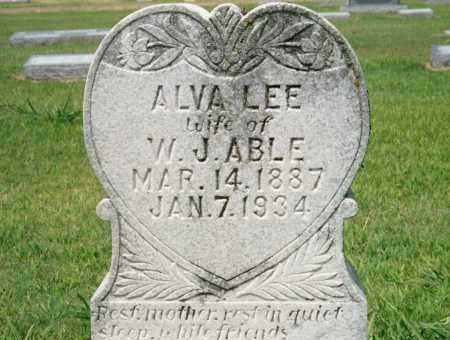 ABLE, ALVA LEE - St. Francis County, Arkansas | ALVA LEE ABLE - Arkansas Gravestone Photos