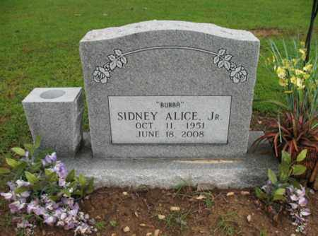 "ALICE, JR, SIDNEY E  ""BUBBA"" - St. Francis County, Arkansas 
