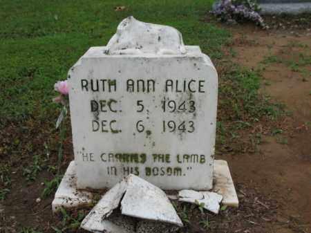 ALICE, RUTH ANN - St. Francis County, Arkansas | RUTH ANN ALICE - Arkansas Gravestone Photos