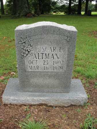 ALTMAN, OSCAR L - St. Francis County, Arkansas | OSCAR L ALTMAN - Arkansas Gravestone Photos