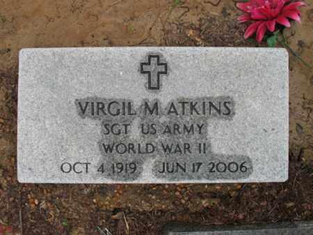 ATKINS (VETERAN WWII), VIRGIL M - St. Francis County, Arkansas | VIRGIL M ATKINS (VETERAN WWII) - Arkansas Gravestone Photos