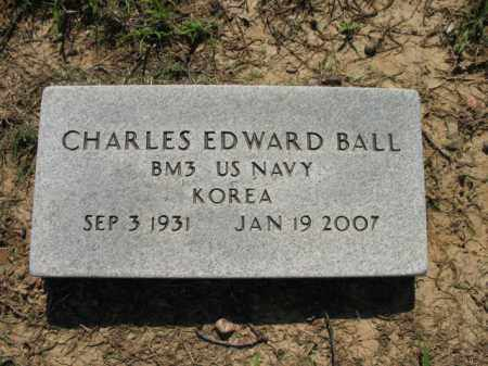 BALL (VETERAN KOR), CHARLES EDWARD - St. Francis County, Arkansas | CHARLES EDWARD BALL (VETERAN KOR) - Arkansas Gravestone Photos