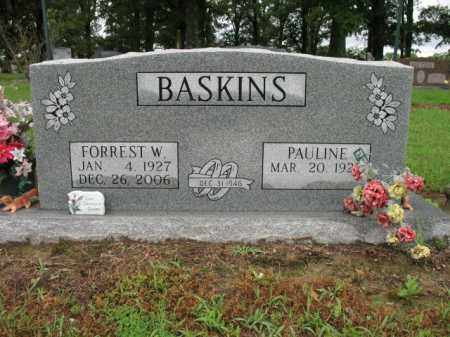 BASKINS, FORREST W - St. Francis County, Arkansas | FORREST W BASKINS - Arkansas Gravestone Photos