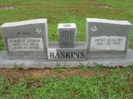 BASKINS, JR, FORREST W - St. Francis County, Arkansas   FORREST W BASKINS, JR - Arkansas Gravestone Photos