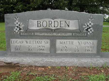 BORDEN, MATTIE YVONNE - St. Francis County, Arkansas   MATTIE YVONNE BORDEN - Arkansas Gravestone Photos