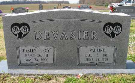 "DEVASIER, CHESLEY ""TROY"" - St. Francis County, Arkansas   CHESLEY ""TROY"" DEVASIER - Arkansas Gravestone Photos"