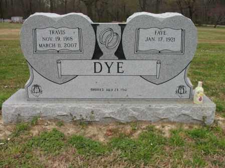 DYE, TRAVIS H - St. Francis County, Arkansas | TRAVIS H DYE - Arkansas Gravestone Photos