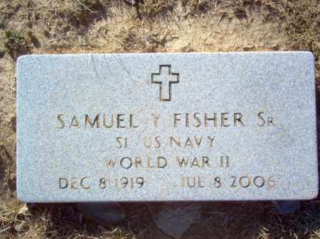 FISHER, SR (VETERAN WWII), SAMUEL Y - St. Francis County, Arkansas | SAMUEL Y FISHER, SR (VETERAN WWII) - Arkansas Gravestone Photos