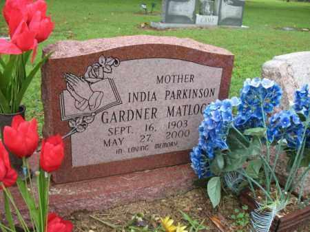 PARKINSON GARDNER-MATLOCK, INDIA - St. Francis County, Arkansas   INDIA PARKINSON GARDNER-MATLOCK - Arkansas Gravestone Photos