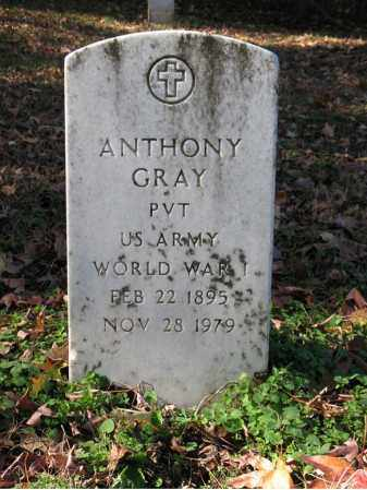 GRAY (VETERAN WWI), ANTHONY - St. Francis County, Arkansas | ANTHONY GRAY (VETERAN WWI) - Arkansas Gravestone Photos