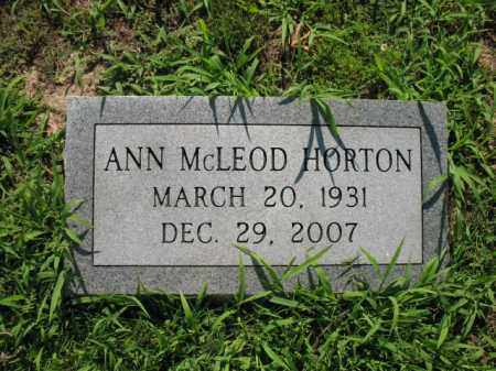 HORTON, ANN - St. Francis County, Arkansas | ANN HORTON - Arkansas Gravestone Photos