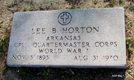 HORTON (VETERAN WWI), LEE B - St. Francis County, Arkansas | LEE B HORTON (VETERAN WWI) - Arkansas Gravestone Photos