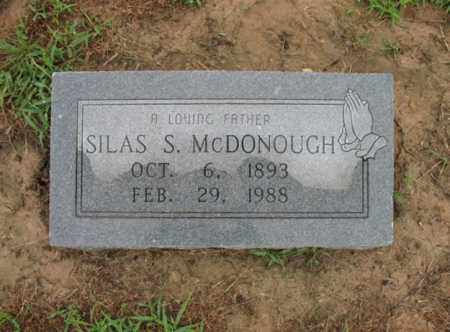 MCDONOUGH, SILAS S - St. Francis County, Arkansas   SILAS S MCDONOUGH - Arkansas Gravestone Photos