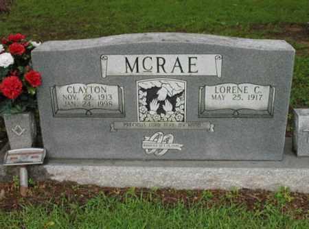 MCRAE, CLAYTON - St. Francis County, Arkansas   CLAYTON MCRAE - Arkansas Gravestone Photos