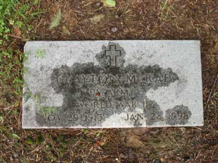 MCRAE (VETERAN WWII), CLAYTON - St. Francis County, Arkansas   CLAYTON MCRAE (VETERAN WWII) - Arkansas Gravestone Photos