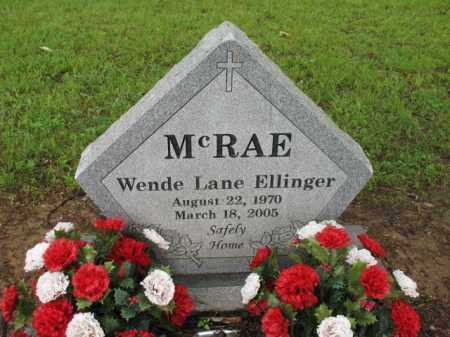 ELLINGER MCRAE, WENDE LANE - St. Francis County, Arkansas | WENDE LANE ELLINGER MCRAE - Arkansas Gravestone Photos