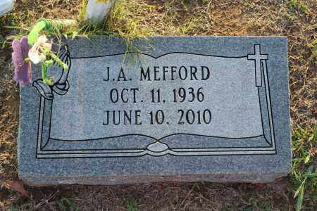 MEFFORD, J A - St. Francis County, Arkansas | J A MEFFORD - Arkansas Gravestone Photos