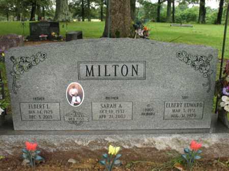 MILTON, ELBERT L - St. Francis County, Arkansas | ELBERT L MILTON - Arkansas Gravestone Photos