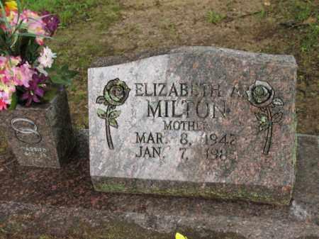 MILTON, ELIZABETH A - St. Francis County, Arkansas   ELIZABETH A MILTON - Arkansas Gravestone Photos