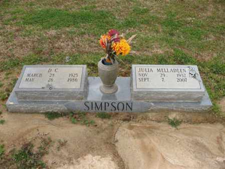 SITZES SIMPSON, JULIA MELLADEEN - St. Francis County, Arkansas | JULIA MELLADEEN SITZES SIMPSON - Arkansas Gravestone Photos