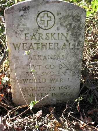 WEATHERALL (VETERAN WWI), EARSKIN - St. Francis County, Arkansas | EARSKIN WEATHERALL (VETERAN WWI) - Arkansas Gravestone Photos