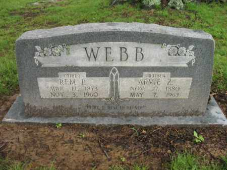 WEBB, ARVIE Z - St. Francis County, Arkansas | ARVIE Z WEBB - Arkansas Gravestone Photos
