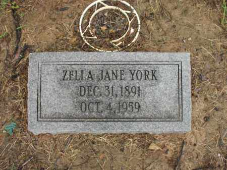 YORK, ZELLA JANE - St. Francis County, Arkansas | ZELLA JANE YORK - Arkansas Gravestone Photos