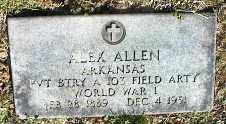 ALLEN  (VETERAN WWI), ALEX - Stone County, Arkansas   ALEX ALLEN  (VETERAN WWI) - Arkansas Gravestone Photos