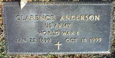 ANDERSON  (VETERAN WWI), CLARENCE - Stone County, Arkansas | CLARENCE ANDERSON  (VETERAN WWI) - Arkansas Gravestone Photos