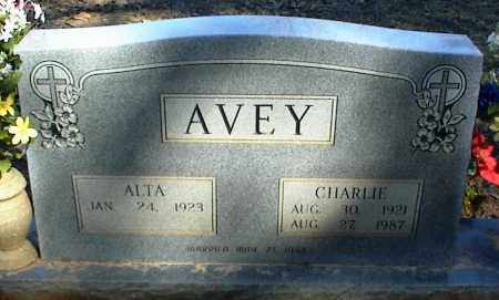 AVEY, CHARLIE - Stone County, Arkansas | CHARLIE AVEY - Arkansas Gravestone Photos