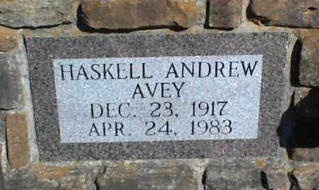 AVEY, HASKELL ANDREW - Stone County, Arkansas | HASKELL ANDREW AVEY - Arkansas Gravestone Photos