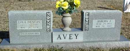AVEY, ASBURN J. - Stone County, Arkansas | ASBURN J. AVEY - Arkansas Gravestone Photos