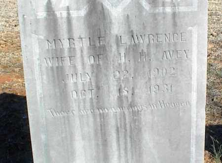 LAWRENCE AVEY, MYRTLE - Stone County, Arkansas   MYRTLE LAWRENCE AVEY - Arkansas Gravestone Photos