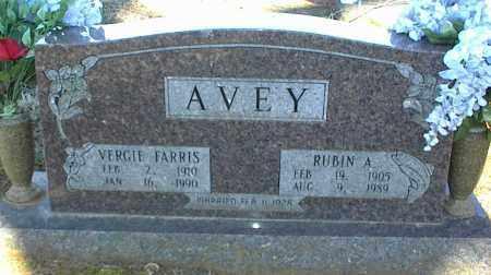 AVEY, RUBIN A. - Stone County, Arkansas | RUBIN A. AVEY - Arkansas Gravestone Photos