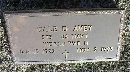 AVEY (VETERAN WWII), DALE D - Stone County, Arkansas | DALE D AVEY (VETERAN WWII) - Arkansas Gravestone Photos