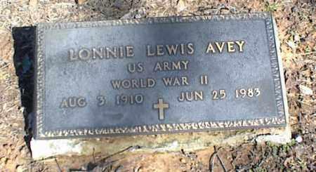 AVEY (VETERAN WWII), LONNIE LEWIS - Stone County, Arkansas   LONNIE LEWIS AVEY (VETERAN WWII) - Arkansas Gravestone Photos