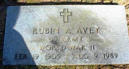 AVEY (VETERAN WWII), RUBIN A - Stone County, Arkansas   RUBIN A AVEY (VETERAN WWII) - Arkansas Gravestone Photos