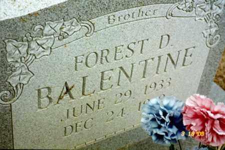 BALENTINE, FOREST D - Stone County, Arkansas | FOREST D BALENTINE - Arkansas Gravestone Photos