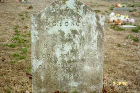 BALENTINE, GEORGE W - Stone County, Arkansas | GEORGE W BALENTINE - Arkansas Gravestone Photos