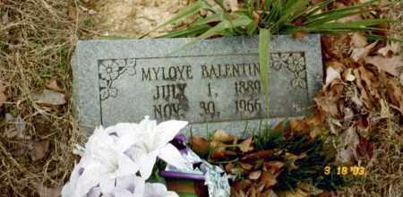 BALENTINE, MYLOYE - Stone County, Arkansas | MYLOYE BALENTINE - Arkansas Gravestone Photos
