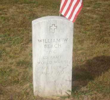 BEACH (VETERAN WWII), WILLIAM W - Stone County, Arkansas   WILLIAM W BEACH (VETERAN WWII) - Arkansas Gravestone Photos