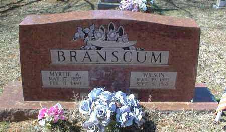 BRANSCUM, WILSON - Stone County, Arkansas | WILSON BRANSCUM - Arkansas Gravestone Photos